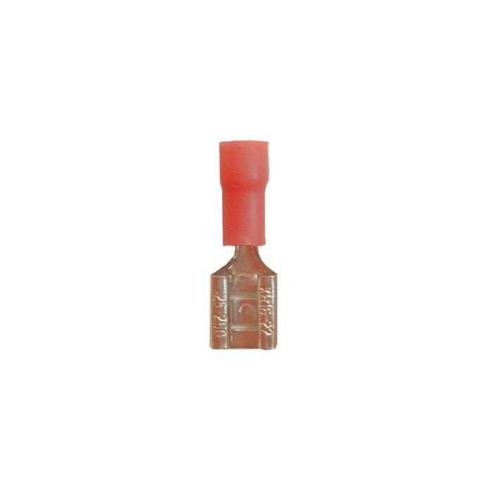AD Ακροδέκτης μονωμένος φαστόν - θηλυκός κόκκινος 6.33mm Υλικά Σύνδεσης