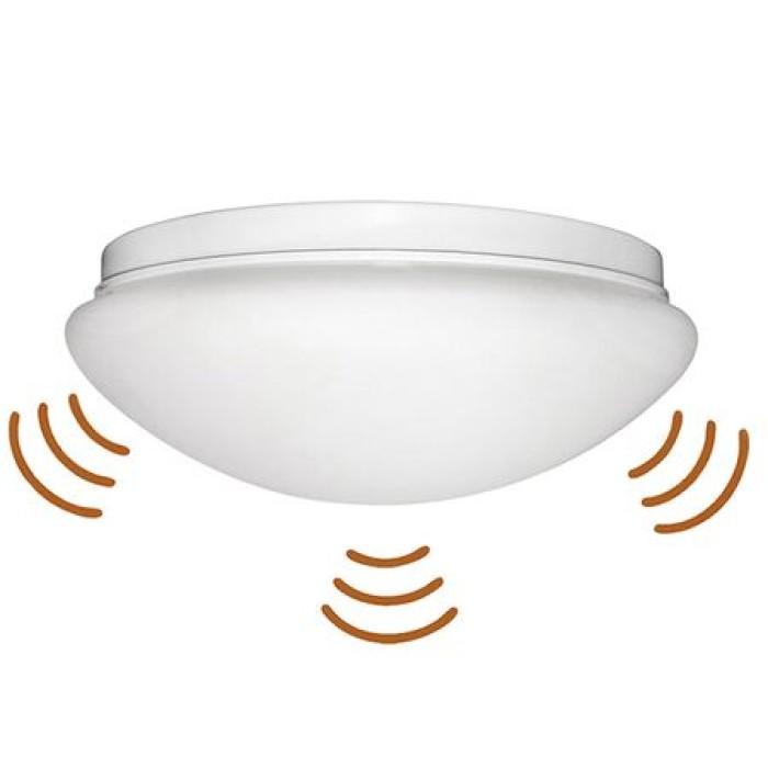 Πλαφονιέρα με ανιχνευτή μικροκυμάτων E27/Φ300mm/Λευκή Φωτοκύτταρα και Ανιχνευτές Onetrade