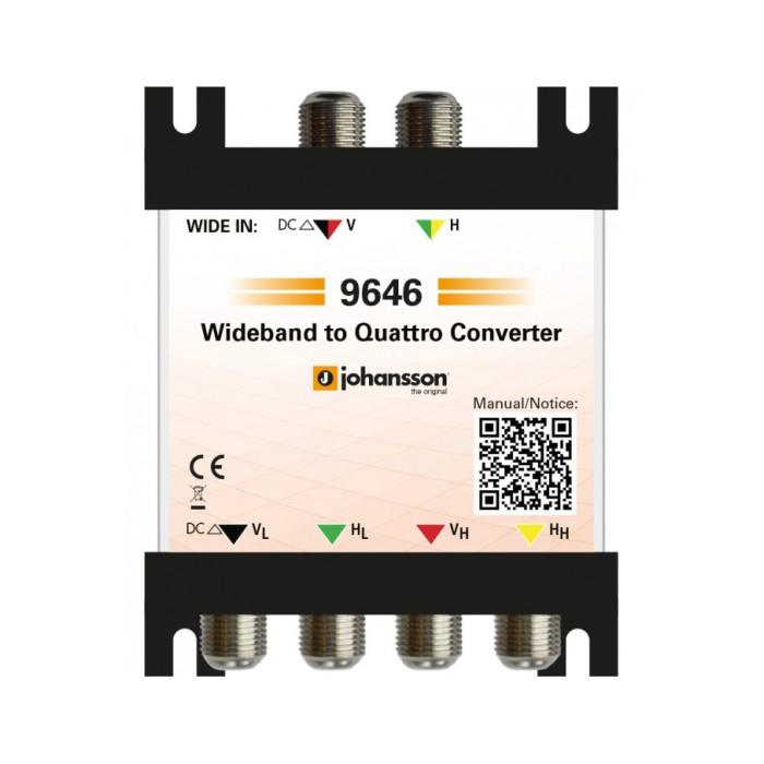 Johansson 9646 - Μετατροπέας Wideband σε Quattro Μετατροπείς Onetrade