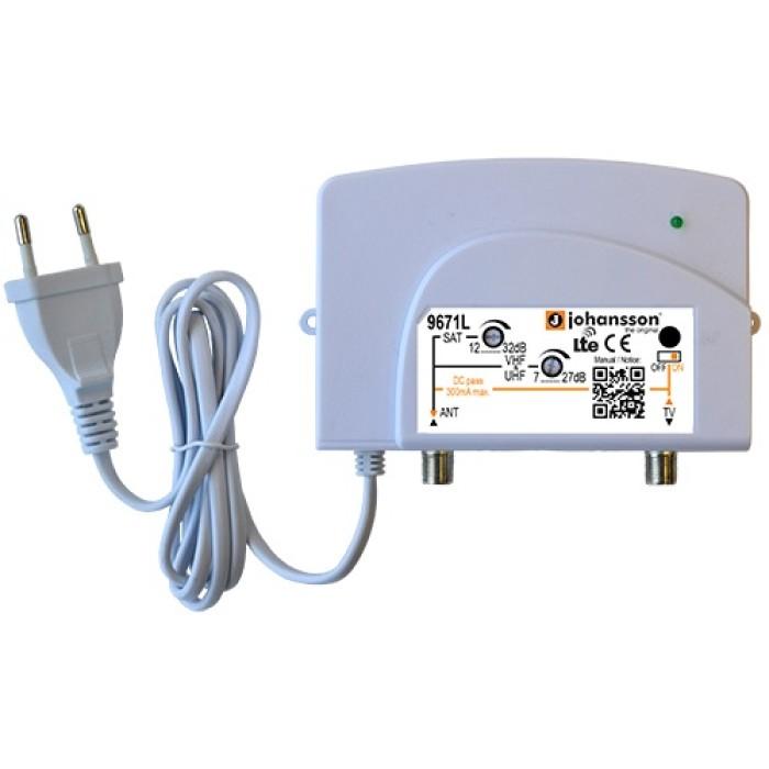 Johansson 9671L TV-SAT - Ενισχυτής Γραμμής LTE/4G Ενισχυτές Onetrade