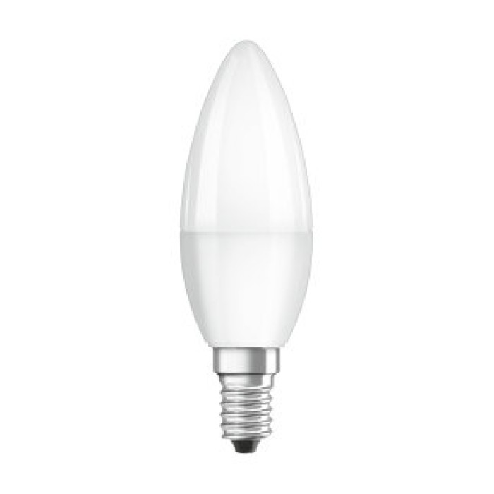LEDVANCE OSRAM Λάμπα - Λαμπτήρας LED VALUE CLB40 5.7W/2700K E14 230V FROSTED Λάμπες LED Κεριά Ε14