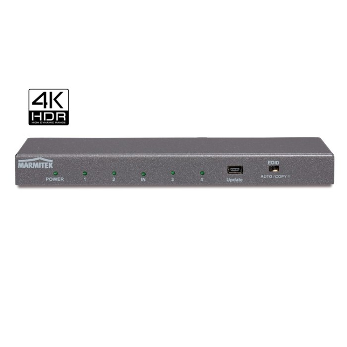 Marmitek Split 614 UHD 2.0 - HDMI splitter with 3D | 4K60 (4:4:4) | HDCP 2.2 | - 1 in / 4 out HDMI Split Onetrade