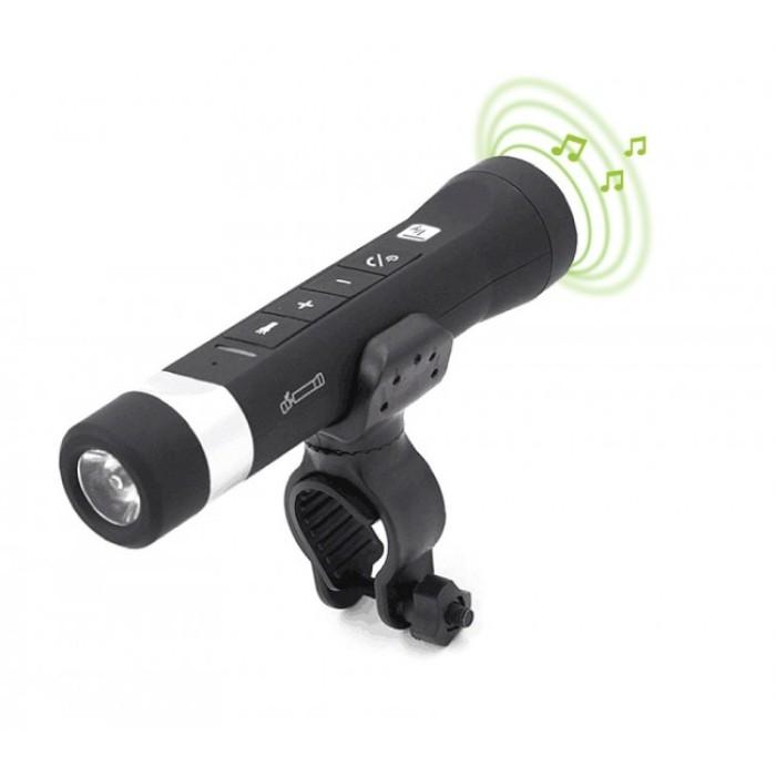 Techly ITC-LED-SPK - LED Φακός Power Bank με ηχείο Bluetooth MP3 Player 4σε1 Ασύρματα Ηχεία Onetrade