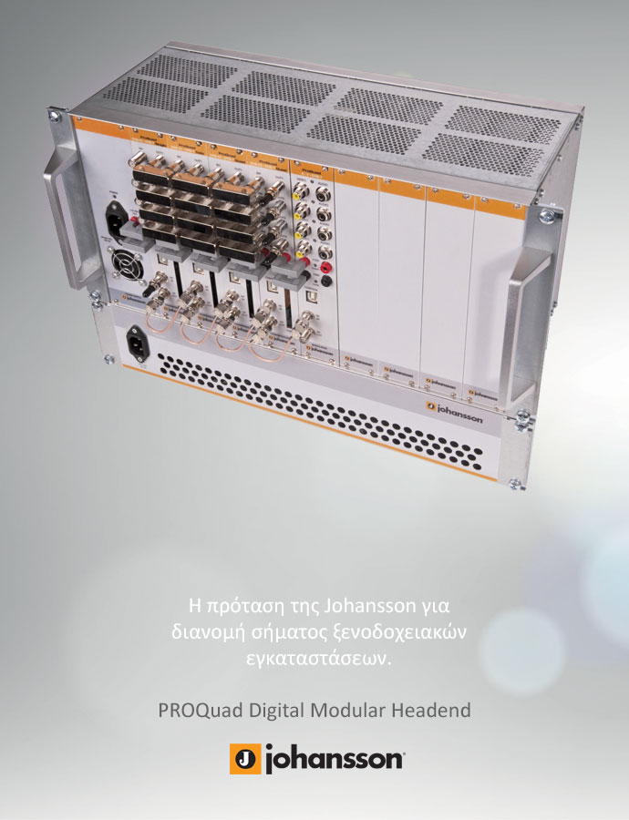 Signal Distribution with Johansson ProQuat Digital Modular Headend for the Hospitality Sector