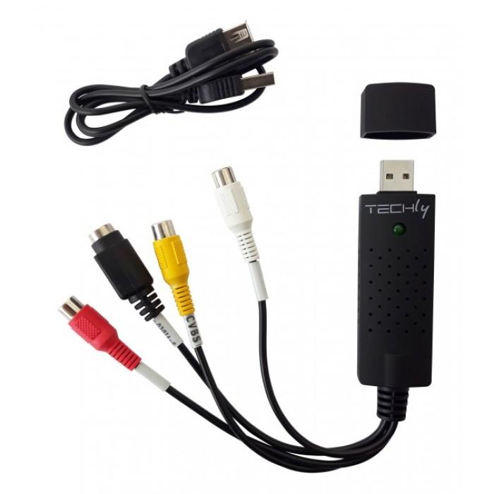 Techly I-USB-VIDEO-700TY - Audio Video Grabber USB 2.0 Converters Εικόνας Ήχου Onetrade