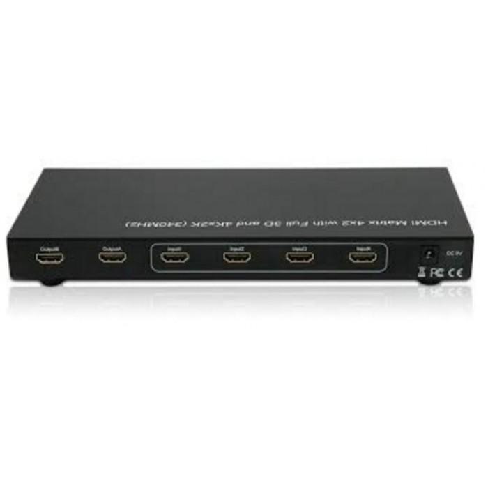 Techly IDATA HDMI-H42B - HDMI Matrix 4x2 4k HDMI Matrix Onetrade