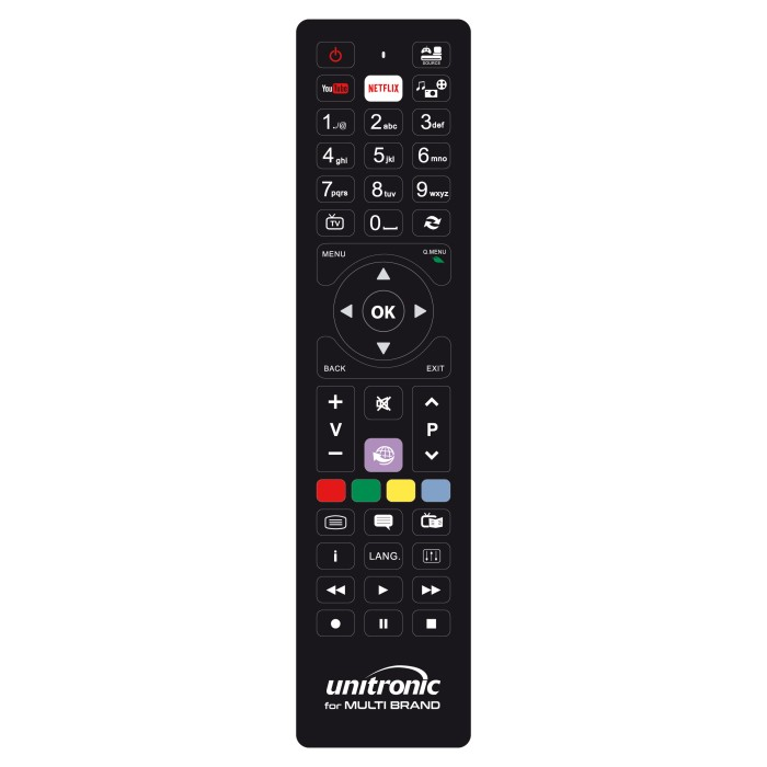 Unitronic 1708 - Χειριστήριο Αντικατάστασης Για Multibrand Τηλεχειριστήρια Onetrade